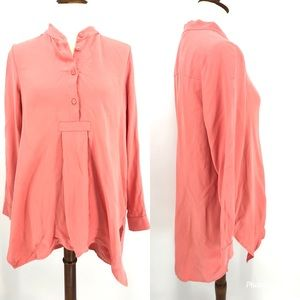 Soft Surroundings Symphony Night Tunic Top Coral